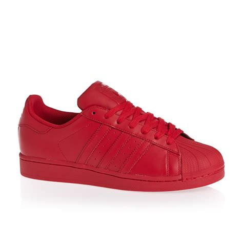 Adidas Red Shoes | adidas originals superstar shoes red s09 free uk delivery