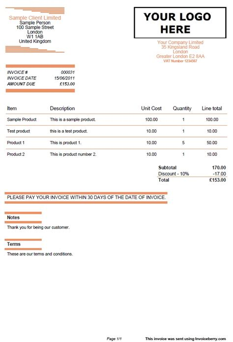 quotes  invoice template orange lines invoiceberry blog