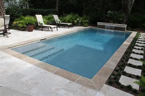 rectangle swimming pool design built by aqua blue pools for the home pinterest blue pool