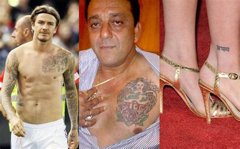 beckham tattoo language think hindi is downmarket these celeb tattoos prove