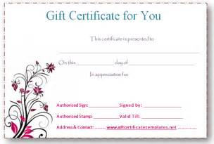 editable gift certificate template pink flower gift certificate template gift certificates