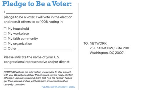voter pledge card template order quot i am a voter quot pledge cards network