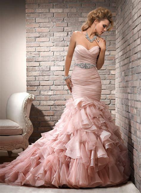 beautiful bridal blush wedding dress