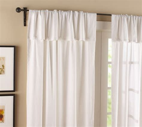 fold over curtains pottery barn textured cotton button drape in white for