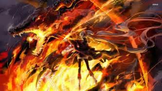 anime dragon girl wallpaper fire dragon wallpaper