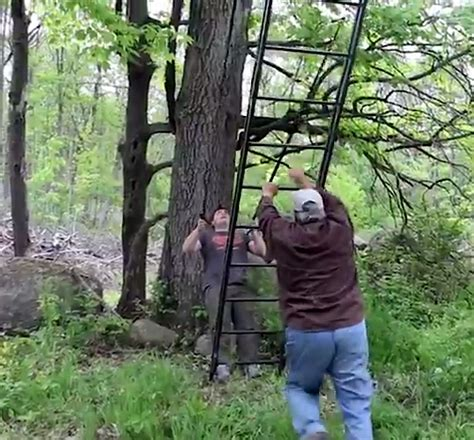 how to set up tree stand deer talk now how to set up a ladder stand safely for