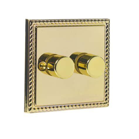 headboard l with dimmer wilko twin 400w dimmer brass