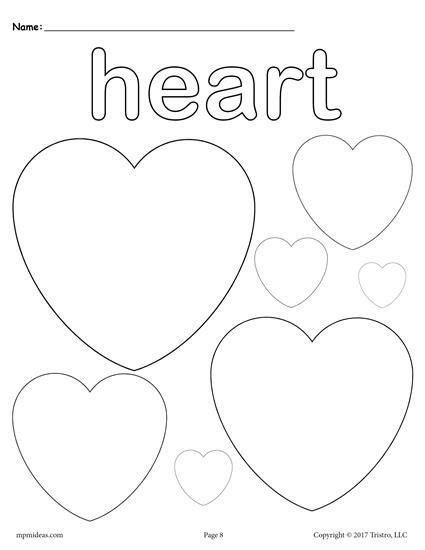 heart coloring pages for kindergarten 145 best shapes worksheets coloring pages activities