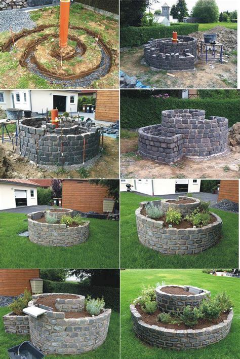 how to build an herb garden how to build an herb spiral garden for small space
