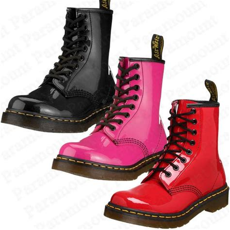 Sepatu Boot Air Wair 8 eyelet air wair dr doc martens 1460w patent leather