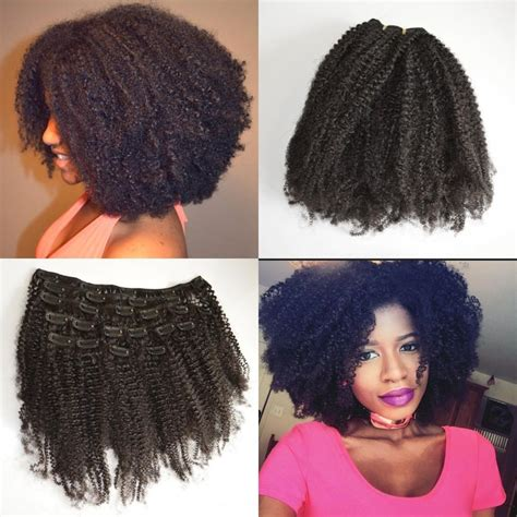 Curly Method For Type 4 Hair by Afro Curly Russian Clip In Hair Extensions