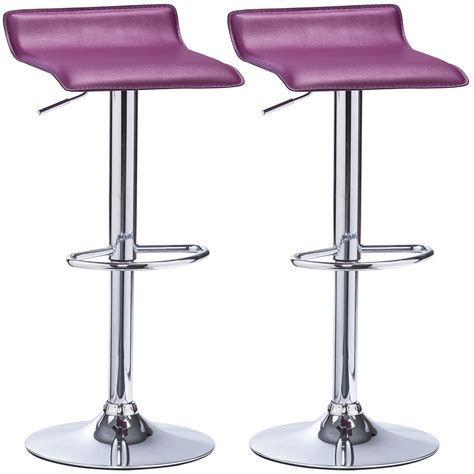 Faux Leather Swivel Bar Stools by 2 X Bar Stools Faux Leather Swivel Breakfast Kitchen Stool