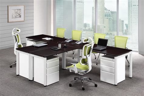 Office Armchair Design Ideas Mi Kmaq Office Furniture Interiors Inc Bridge Collection Dual Workstation 144 Quot X 78 Quot