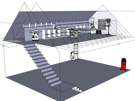Garage Shop Floor Plans by Woodshop Workshop 2nd Floor Of Garage Woodworking Shop