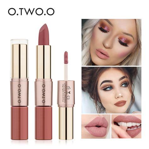 Lipstick Lip Gloss 6 2 In1 Matte o two o 2in1 12 colors matte liquid lipstick makeup velvet lipstick and matte lip gloss