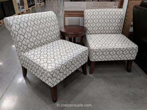 3 table and chairs ave six 3 fabric chair and accent table set