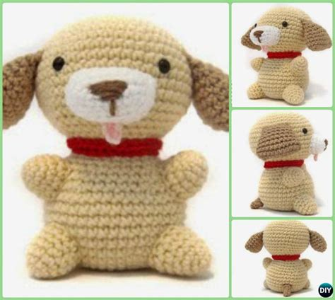pattern crochet dog diy crochet amigurumi puppy dog stuffed toy free patterns