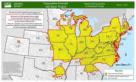 maryland agriculture map emerald ash borer