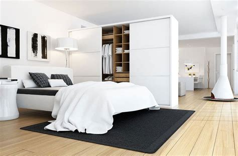 Black And White Bedroom Interior Design 20 Beautiful Exles Of Bedrooms With Attached Wardrobes