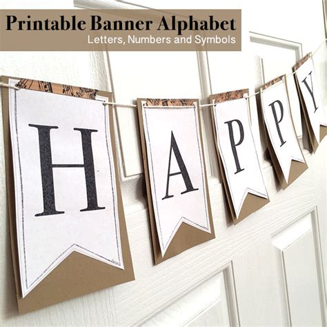Printable Full Alphabet For Banners The Country Chic Cottage Banner Letter Template