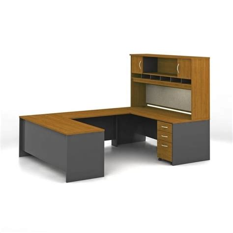U Computer Desk Bush Business Series C 5 U Shape Computer Desk In Cherry Wc72436 Pkg3