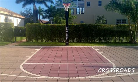 pavers for basketball court landscaper mountain