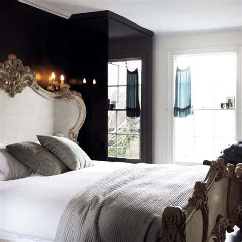 Black Walls Bedroom by Black Wall Bedroom Designs