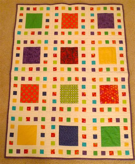Neutral Baby Quilt by Gender Neutral Baby Quilt In Brights And White