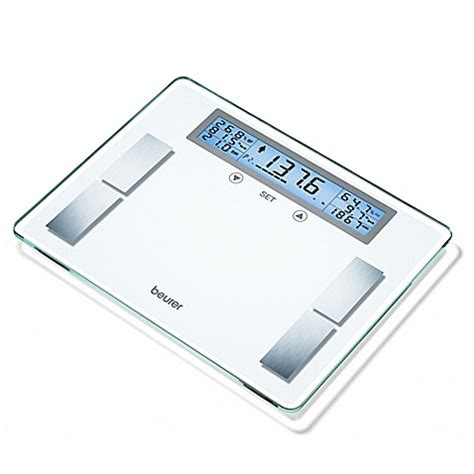 beurer bathroom scale beurer glass body analysis bathroom scale bed bath beyond