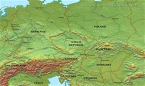 physical map of central europe where is central europe located on the world map