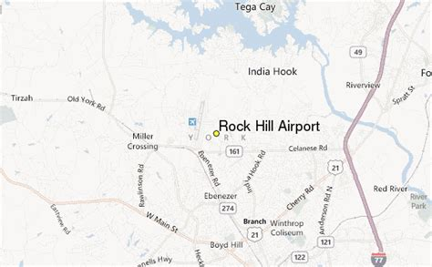 rock hill airport weather station record historical