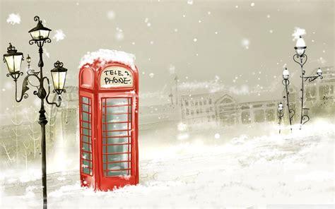 imagenes nieve vintage phone booth winter 4k hd desktop wallpaper for 4k ultra hd