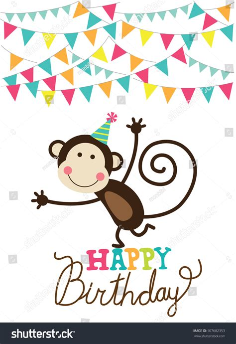 happy birthday card design vector illustration happy birthday card vector illustration stock vector