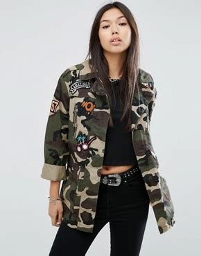 Parka Army Jacket Jacket Army Jaket Motif Army coats shop for coats jackets asos