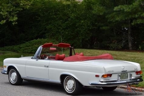 stunning restored  white mercedes benz convertible