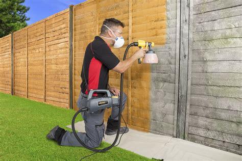 wagner fence decking paint sprayer  fences sheds