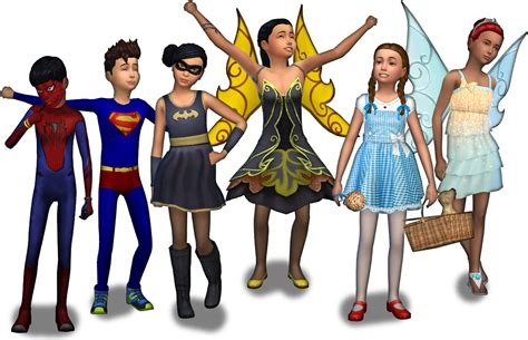 sims 4 halloween costumes custom showcase tricks and treats simsvip