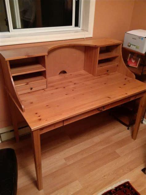 Ikea Alve Wood Desk With Ikea Joel Wood Chair Saanich Ikea Alve Desk