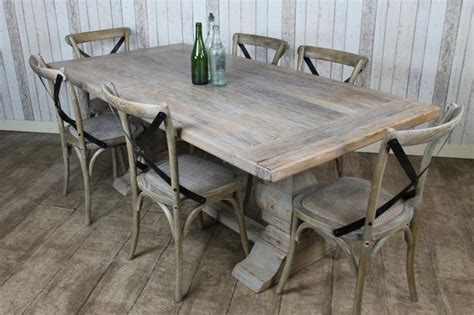 distressed limed elm dining table white washed bleached