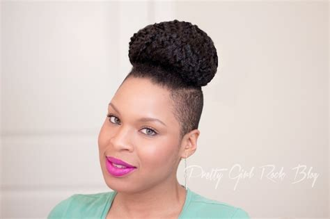head shaved on sides with bun on top marley bun top knot natural hair updo hair and