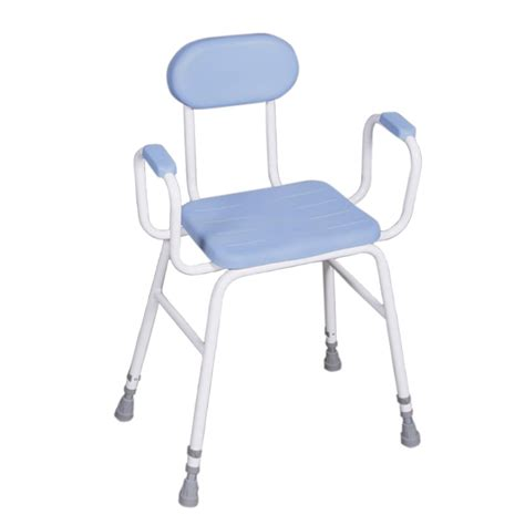 Padded Stool With Backrest by Perching Stool With Padded Arms Backrest Sports