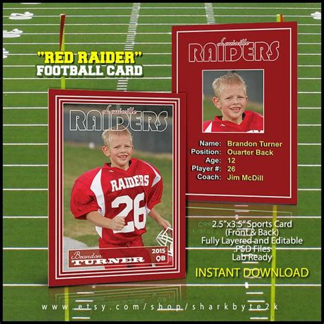 Football Card Template by 1000 Images About Photoshop Templates Designs On