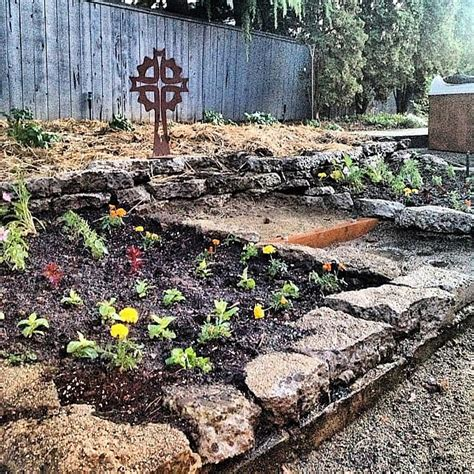 diy flower bed diy broken concrete project for flower bed reluctant
