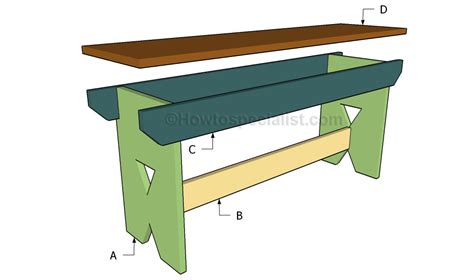 easy bench designs simple bench plans howtospecialist how to build step