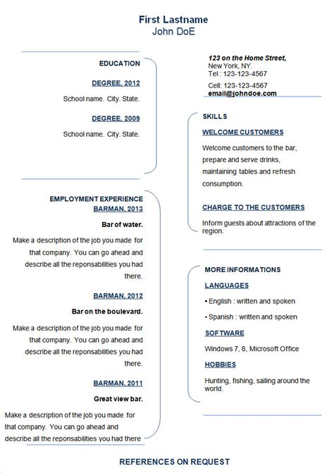 Resume Template Simple by 70 Basic Resume Templates Pdf Doc Psd Free
