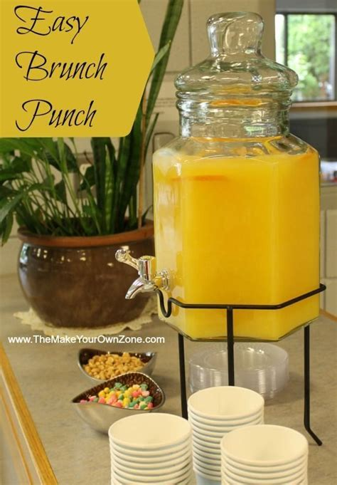 Easy Punch Recipe for a Morning Brunch Shower   Punch