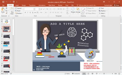 free animated biology powerpoint templates gallery