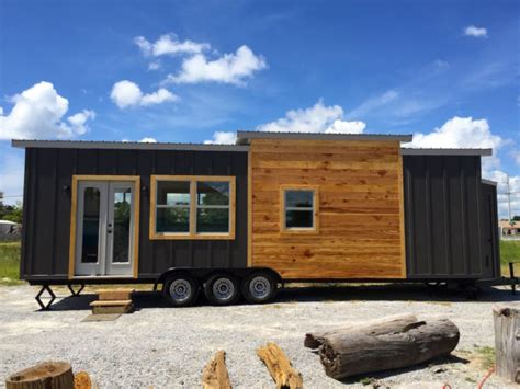 tiny house with bedroom downstairs irving tiny house on wheels with downstairs bedroom