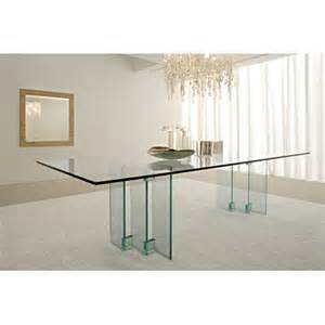 Modern glass dining table modern italian glass top dining table