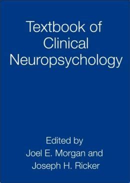 textbook of clinical neuropsychology by joel e